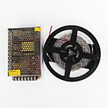 zdm® 5m 100w 600 * 7020 SMD ha portato in evidenza bianco freddo flessibile ha condotto la luce e AC100-240V di DC12V il trasformatore