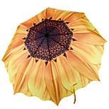 Sunflower Sunny Umbrella Folding Umbrella Creative Personality Silver Plastic Uv Sun Shade Umbrella
