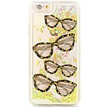 Back Flowing Quicksand Liquid/Printing Pattern Glasses PC Hard Case For iPhone 6s Plus/6 Plus/6s/6/SE/5s/5