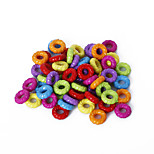 Beadia Assorted Color Acrylic Beads 3x8mm Circle Plastic Spacer Loose Beads(50g/approx 450pcs)