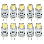 10PCS G4 LED COB 300-350LM Warm White/Cool White/Natural White Decorative / Waterproof DC12V  LED Bi-pin Lights