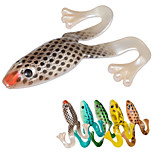 2pcs/lot Afishlure 12g 85mm Soft Layfrog Blackfish Killing Lure Simulation Soft Bait Fishng Bait
