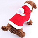 Sweety Christmas Style Angle Pattern Costume Clothes for Pets Dogs Winter Warm Coats Cute Pet Dog Chic Angel Wing