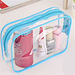 Large Capacity Transparent Travel Toiletries Bag Cosmetic Bag Korea Pvc Transparent Waterproof Ladies Cosmetic Bag