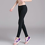 Yoga Pants Tights Breathable / Lightweight Materials Natural High Elasticity Sports Wear Black Women's Sports Yoga