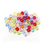 beadia perlas de colores surtidos de acrílico de 10 mm lisa de plástico redonda suelta perlas espaciadoras (50 g / aprox 80pcs)