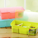 Kitchen Seasoning Box Set Transparent Plastic Candy Color Multi-grid Seasoning Box (Three Grids)