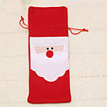 1pc Red Wine Bottle Cover Bags Christmas Dinner Table Decoration Home Party Supplies Santa Claus