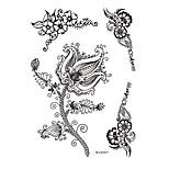 1pc Beauty Flower Black Henna Temporary Tattoo for Woman Body Art Jewelry Sticker BM-LS1017