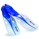 Diving Fins Adult luminous / Protective Diving / Snorkeling Blue / Black silicone-WAVE海浪
