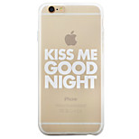 Kiss Me letter TPU Matte Phone Case Soft Case for 6/6s/6Plus/6sPlus