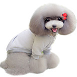 Dog Shirt / T-Shirt Gray Winter Solid Keep Warm, Dog Clothes / Dog Clothing