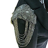 Women's Fashion Punk Style Bead Tassels Brooch/Shoulder Board/Epaulet Brooch Party Jewelry