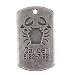 10pcs New Alloy Parts Twelve Constellation Cancer Square Accessories