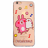 Rabbit Pattern Material Transparent TPU Phone Case for iPhone  6 6S  6 Plus 6S Plus