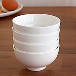 Pure White Bone Porcelain Porcelain Bowl