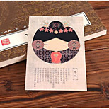 Fa08 Postcard Card Classical Jinling 12 Fork Postcards Greeting Cards