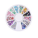 1PC Nail art  Rotary table acrylic Drill silver At the end of tip Top drill nails decorations 4 mm 2 mm