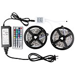 KWB Led Strip Lights Kit Non-waterproof SMD 5050 32.8 Ft (10M) 300leds RGB with 44key Ir Controller and Power Supply