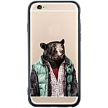 Blue Weskit Bear Device Dustproof/Pattern Dog Soft TPU and PC Back Coque For iPhone 6s Plus/6 Plus/6s/6/SE/5s/5