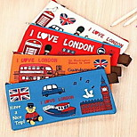 Oxford Cloth Storage Bags Student Stationery Leap London Oxford Pencil Case(Random Color)