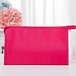 Solid Color Plaid Makeup Bag Simple Bathroom Bag Portable Net Wash Bag