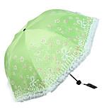 2015 33143E Paradise Umbrella Folding Fresh Mushroom Spring Princess Princess Sunny Umbrella Vinyl Umbrellas
