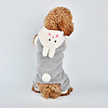Cat / Dog Costume / Clothes/Jumpsuit White / Gray Winter / Spring/Fall Animal Cosplay, Dog Clothes
