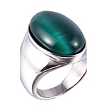 Men's Gem / Titanium Steel Ring Vintage Party / Daily / Casual 1pc Statement Rings
