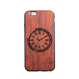 Natural Wood Clock Watch Ultra Thin Protective Back Cover iPhone Case for iPhone 6S Plus/6 Plus/6S/6