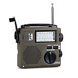 alta sensibilidad radio portátil banda mundo lleno / / ambiental / manivela de radio dinamo económica de radio recargable