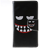 Smiling Face Pattern PU Leather Full Body Case with Stand and Card Slot for HTC Desire 626