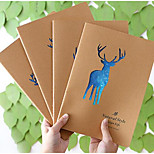 A164 Korea Stationery Cute Animal Hollow Of The Hand Lane Of The Sub-Ledger Notebook