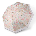 Creative Folding Clear Umbrella Girl Princess Embroidered Lace Parasol Uv Sunscreen Vinyl Umbrellas