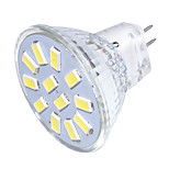 3 GU4(MR11) Focos LED MR11 12 SMD 5733 250 lm Blanco Cálido / Blanco Fresco Decorativa 09.30 V 1 pieza