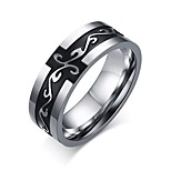 Men's Popular Personality Retro Titanium Steel Dragon Pattern Ring