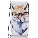 Dog with Glasses Pattern PU Leather Full Body Case with Stand for iPhone7 6sPlus 6Plus 6S 6