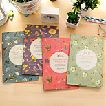 The New A5 Color Of Flowers Korea Retro Aesthetic Creative Notebook