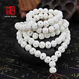 DIY Jewelry White Charms for Bracelet 6mm 108pcs