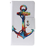 Anchor Pattern PU Leather Full Body Case with Stand and Card Slot for HTC Desire 626