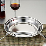 Electrolysis Cells Snack Plate Stainless Steel Plate Restaurant Snack Student Cafeteria Dining Dish