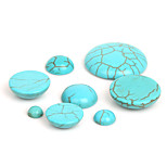 Beadia 50Pcs Synthetic Turquoise Stone 6mm Dome Cabochons Beads
