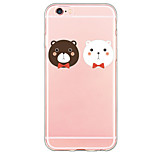 Cartoon Bear Pattern TPU Ultra-thin Translucent Soft Back Cover for Apple iPhone 6s Plus/6 Plus/ 6s/6/ SE/5s/5