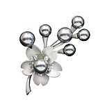 Women's Antiqued Silver Plated Flower Design Fashion Brooch Daily/Casual Gift