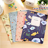 Korea Stationery Embossed Cover Film Spirit Fun Nature B5 Suture This Soft Surface Manuscripts Sub-Notebook