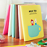 Bk04 Korea Stationery Cute Cozy Tea Time Portable Pouches Notepad