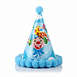 Birthday Party Accessories-1Piece/Set Hats Card  Paper Classic Theme Cylinder Non-personalised Blue
