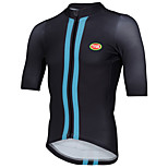 Sports Cycling Tops Men's Bike Breathable / Front Zipper / Wearable / Ultra Light Fabric Short Sleeve LYCRA® / Terylene