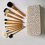 10pcs Makeup Brushes Set Goat Hair Professional / Full Coverage Wood