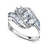 Anniversary Wedding Band Ring CZ 925 Sterling Silver Jewelry Brand Design Wedding Band Ring For Women Gif